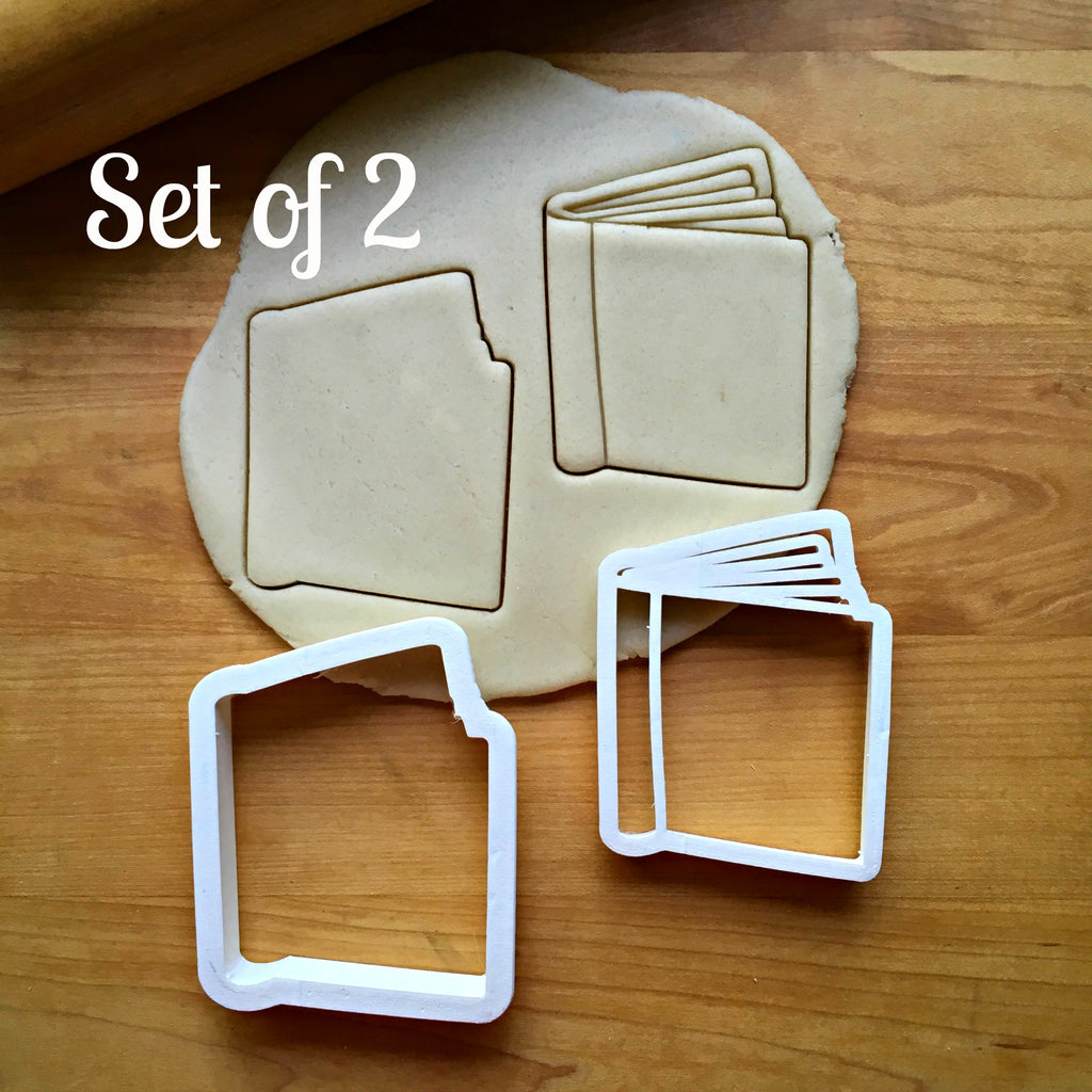 Set of 2 Book Cookie Cutters/Dishwasher Safe