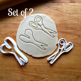 Set of 2 Scissors Cookie Cutters/Dishwasher Safe