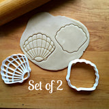 Set of 2 Seashell Cookie Cutters/Dishwasher Safe