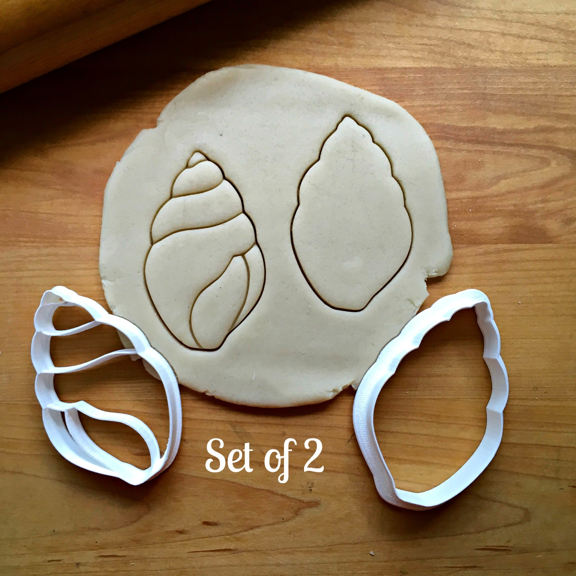 Set of 2 Conch Seashell Cookie Cutters/Dishwasher Safe