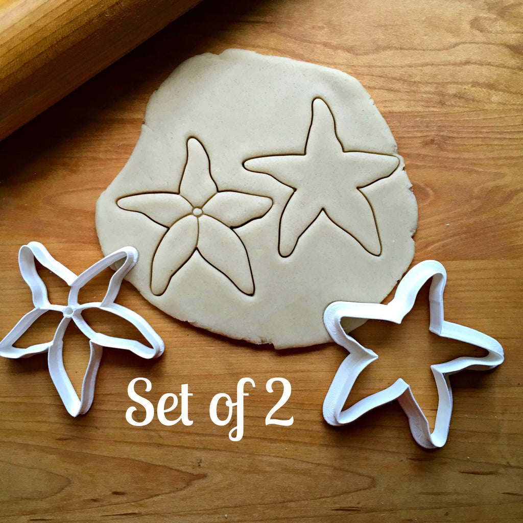 Set of 2 Starfish Seashell Cookie Cutters/Dishwasher Safe