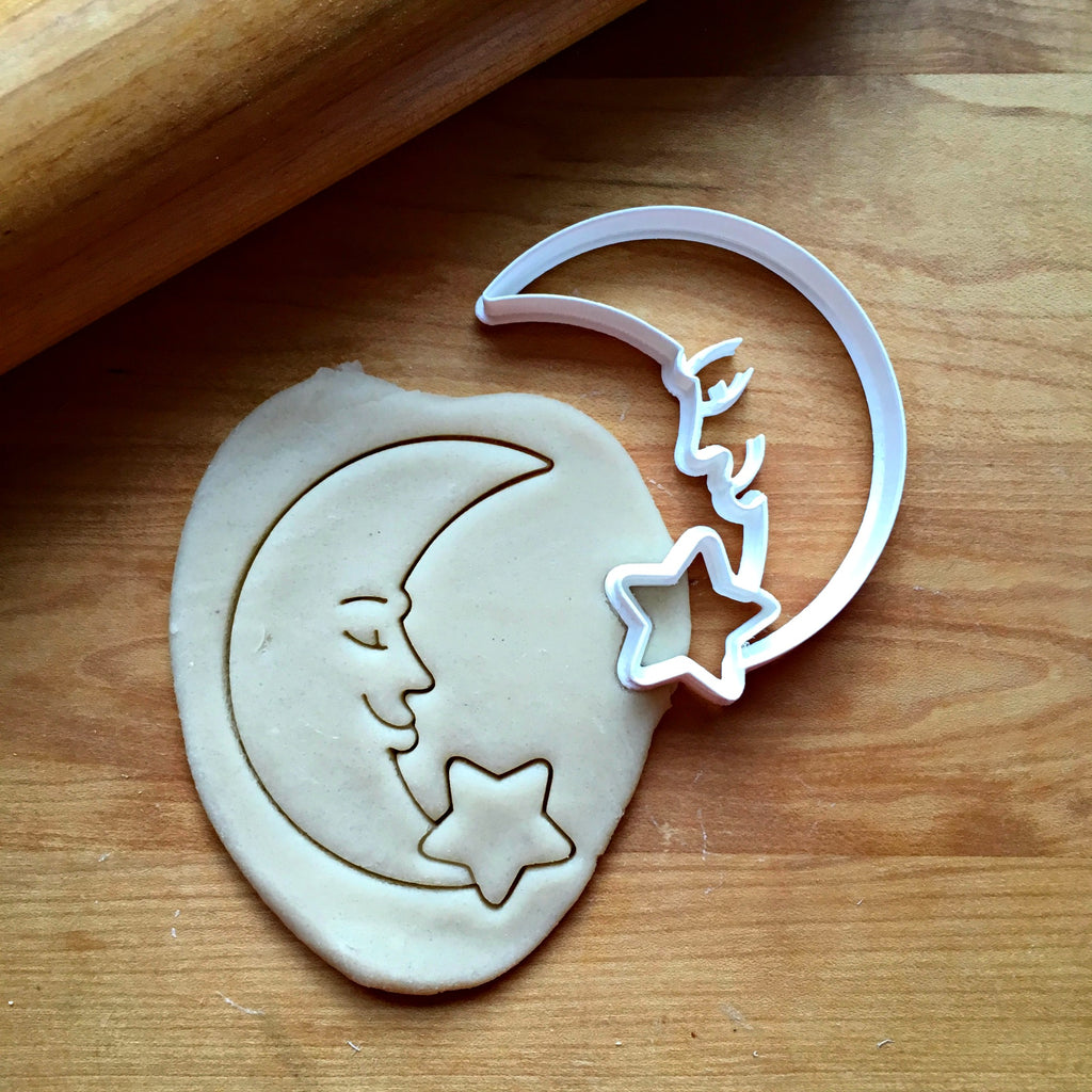 Crescent Moon and Star Cookie Cutter/Dishwasher Safe