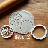 Set of 2 Crescent Moon, Cloud and Stars Cookie Cutters/Dishwasher Safe