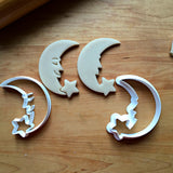 Set of 2 Crescent Moon and Star Cookie Cutters/Dishwasher Safe