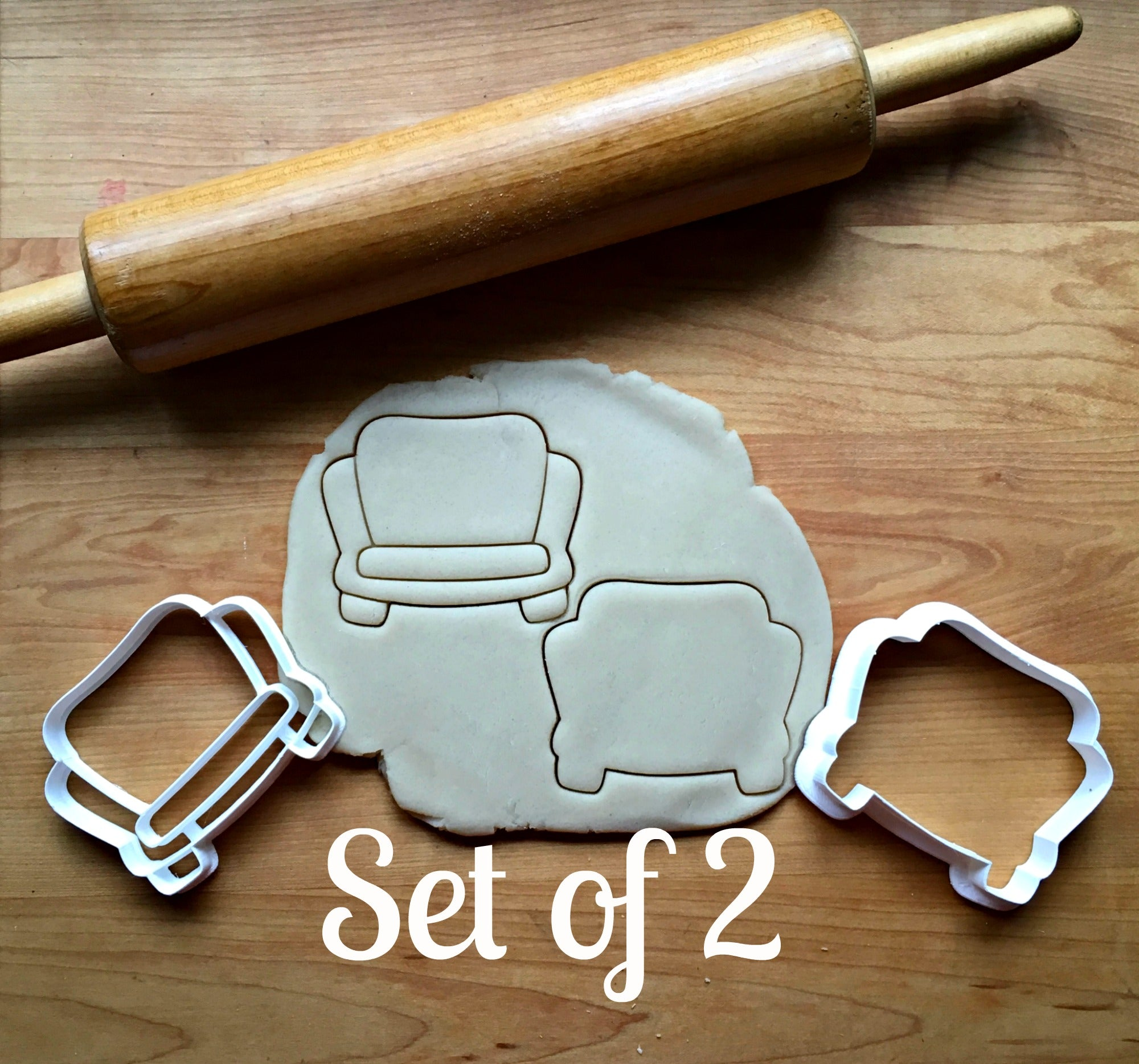 Set of 2 Couch Cookie Cutters/Dishwasher Safe