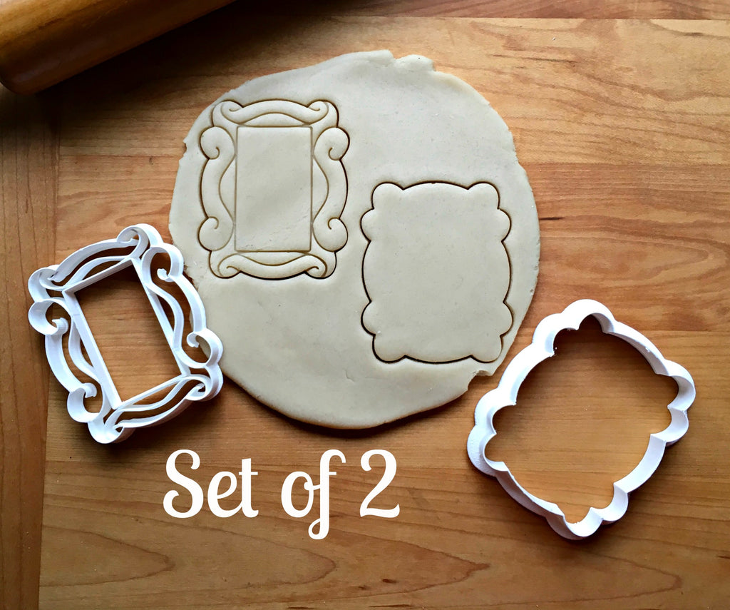 Set of 2 Picture Frame Cookie Cutters/Dishwasher Safe