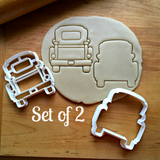 Set of 2 Pickup Truck with Tailgate Cookie Cutters/Dishwasher Safe
