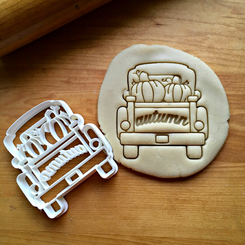 Autumn Pickup Truck with Tailgate Cookie Cutter/Dishwasher Safe