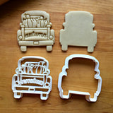 Set of 2 Autumn Pickup Truck with Tailgate Cookie Cutters/Dishwasher Safe