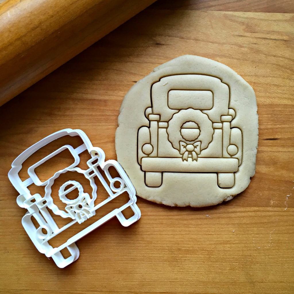 Christmas Pickup Truck with Tailgate Cookie Cutter/Dishwasher Safe