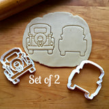 Set of 2 Christmas Pickup Truck with Tailgate Cookie Cutters/Dishwasher Safe