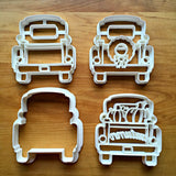 Set of 4 Pickup Truck with Tailgate Cookie Cutters/Dishwasher Safe