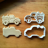 Set of 2 Pickup Truck with Pumpkins Cookie Cutters/Dishwasher Safe