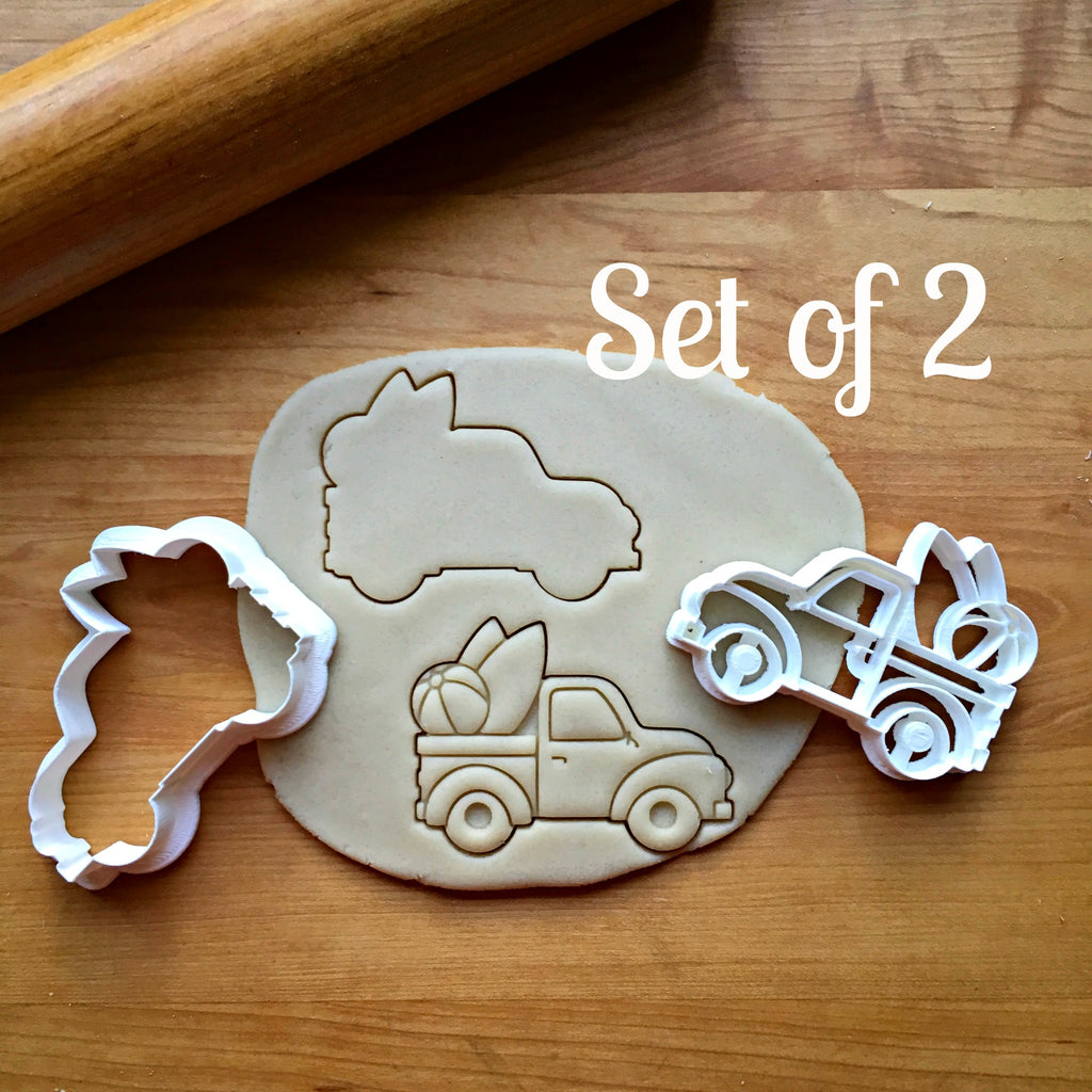 Set of 2 Beach Pickup Truck Cookie Cutters/Dishwasher Safe