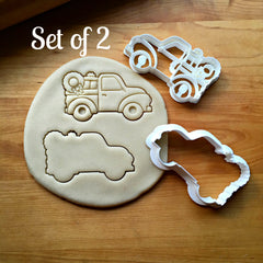 Set of 2 Christmas Pickup Truck Cookie Cutters/Dishwasher Safe
