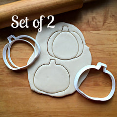 Set of 2 Pumpkin Cookie Cutters/Dishwasher Safe