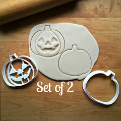 Set of 2 Jack-O-Lantern Cookie Cutters/Dishwasher Safe