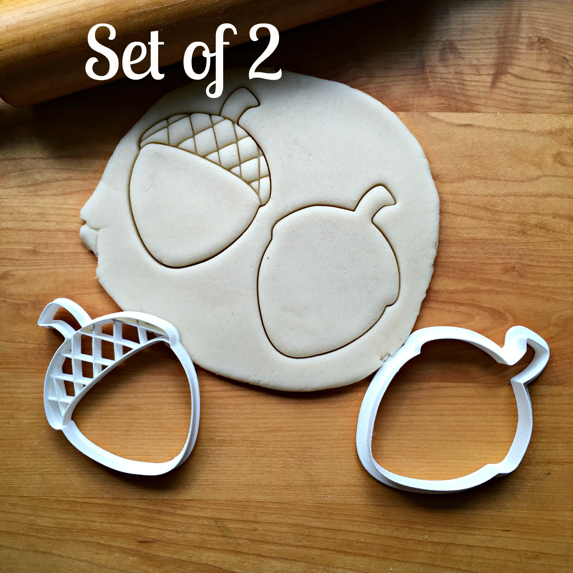 Set of 2 Acorn Cookie  Cutters/Dishwasher Safe