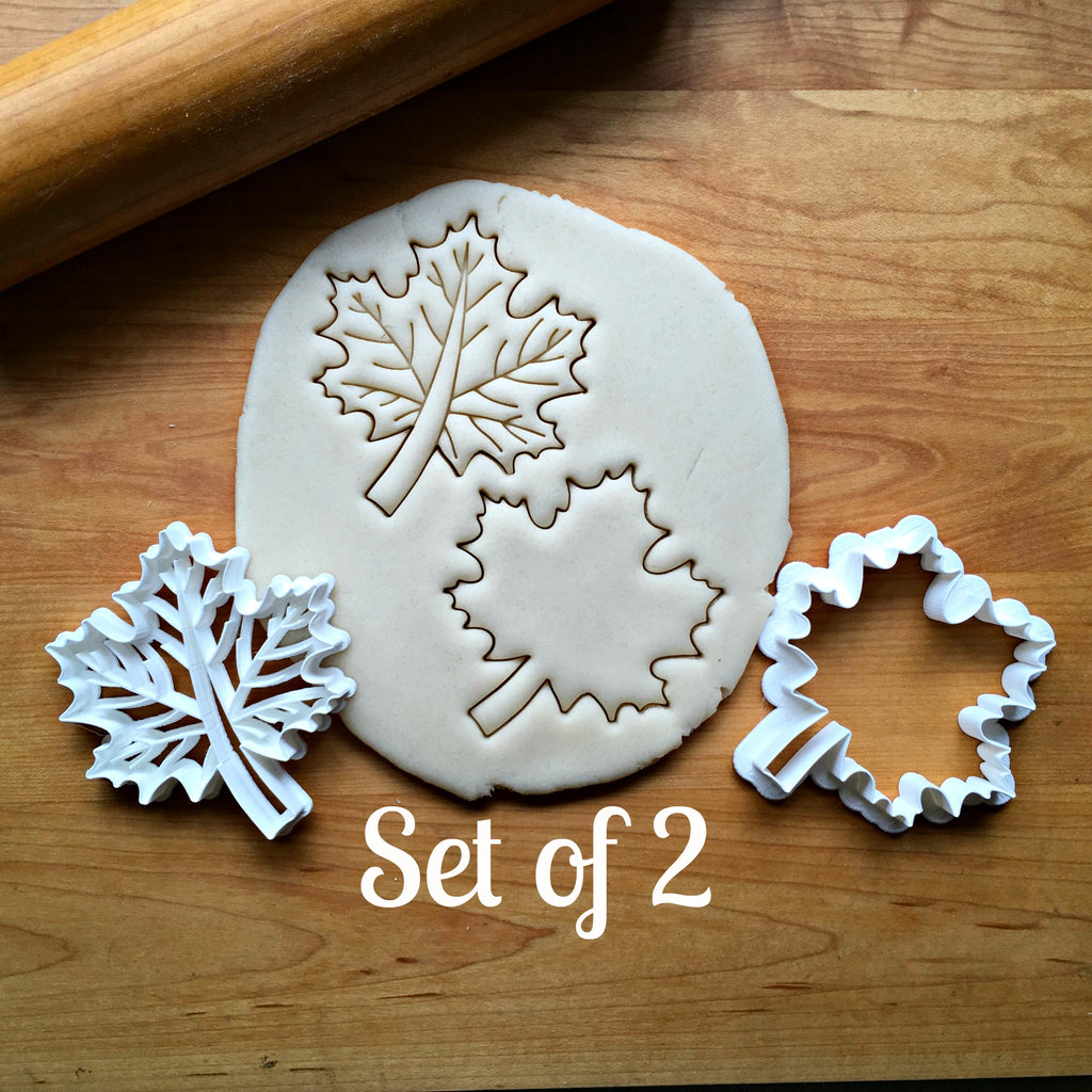 Set of 2 Maple Leaf Cookie  Cutters/Dishwasher Safe