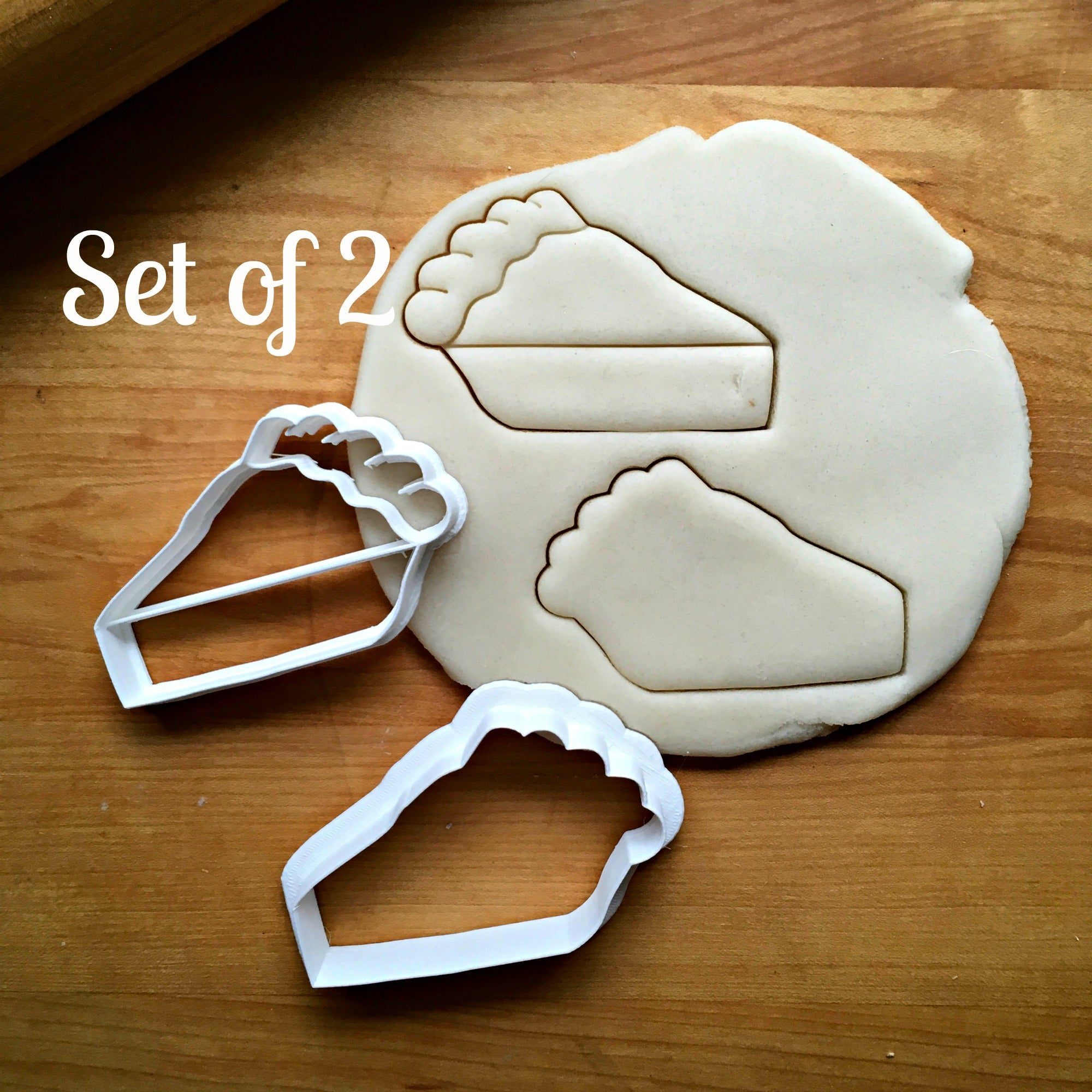 Set of 2 Slice of Pie Cookie Cutters/Dishwasher Safe