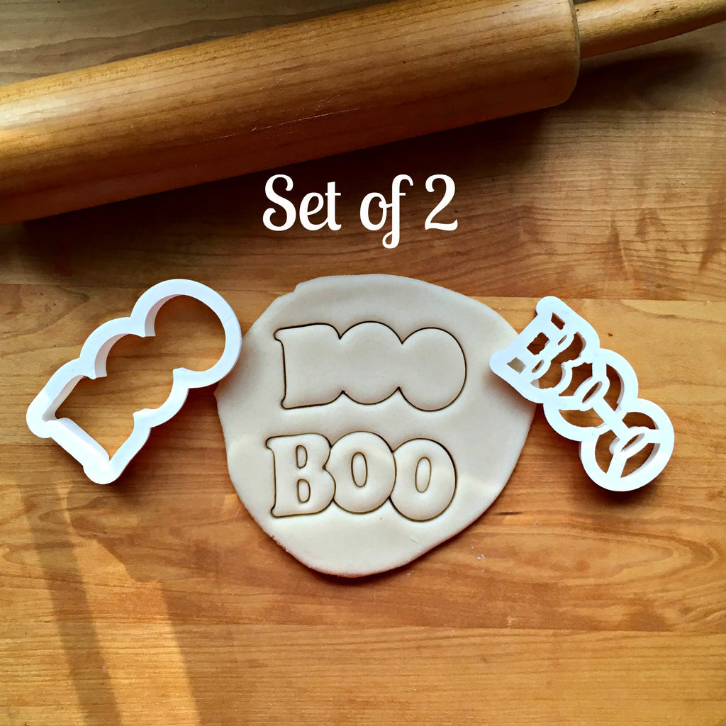Set of 2 Boo Cookie Cutters/Dishwasher Safe