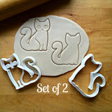 Set of 2 Kitty Cat Cookie Cutters/Dishwasher Safe