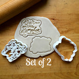 Set of 2 Our Little Pumpkin Script Cookie Cutters/Dishwasher Safe