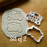 Set of 2 Cute Boo Cookie Cutters/Dishwasher Safe