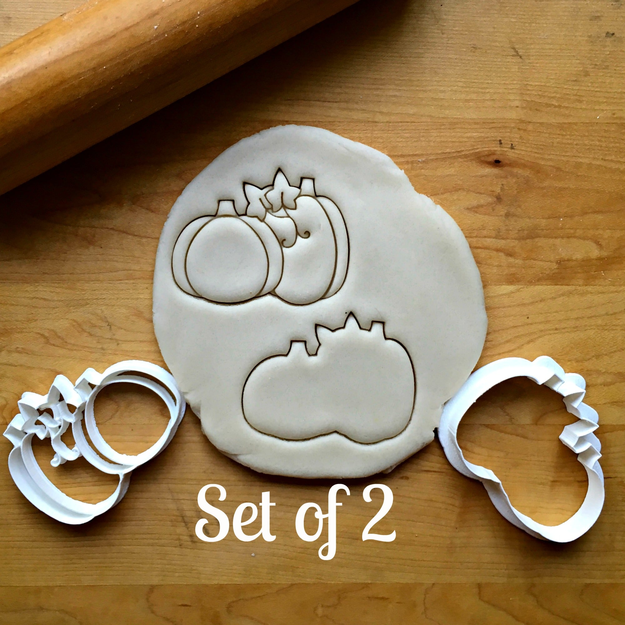 Set of 2 Pumpkin Patch Cookie Cutters/Dishwasher Safe