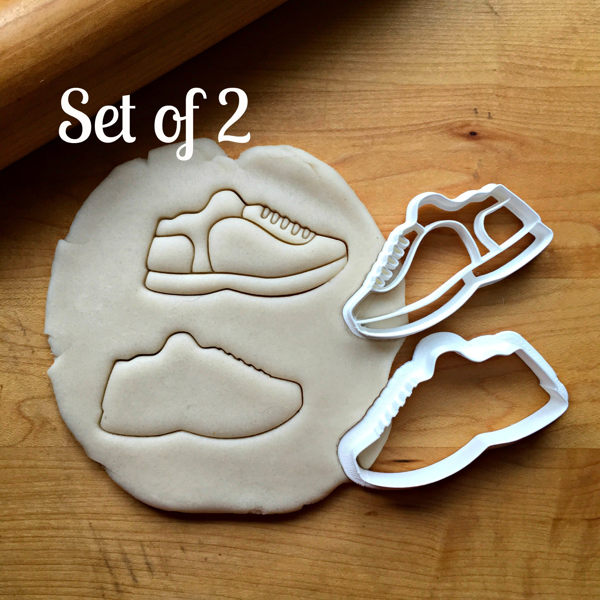 Set of 2 Sneaker Cookie Cutters/Dishwasher Safe