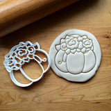 Pumpkin with Flowers Cookie Cutter/Dishwasher Safe