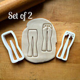 Set of 2 Skinny Jeans Cookie Cutters/Dishwasher Safe