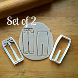 Set of 2 Jeans Cookie Cutters/Dishwasher Safe