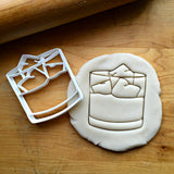 Whiskey Tumbler Glass Cookie Cutter/Dishwasher Safe