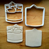 Set of 2 Whiskey Tumbler Glass Cookie Cutters/Dishwasher Safe