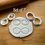 Set of 2 Rounded Glasses Cookie Cutter/Dishwasher Safe