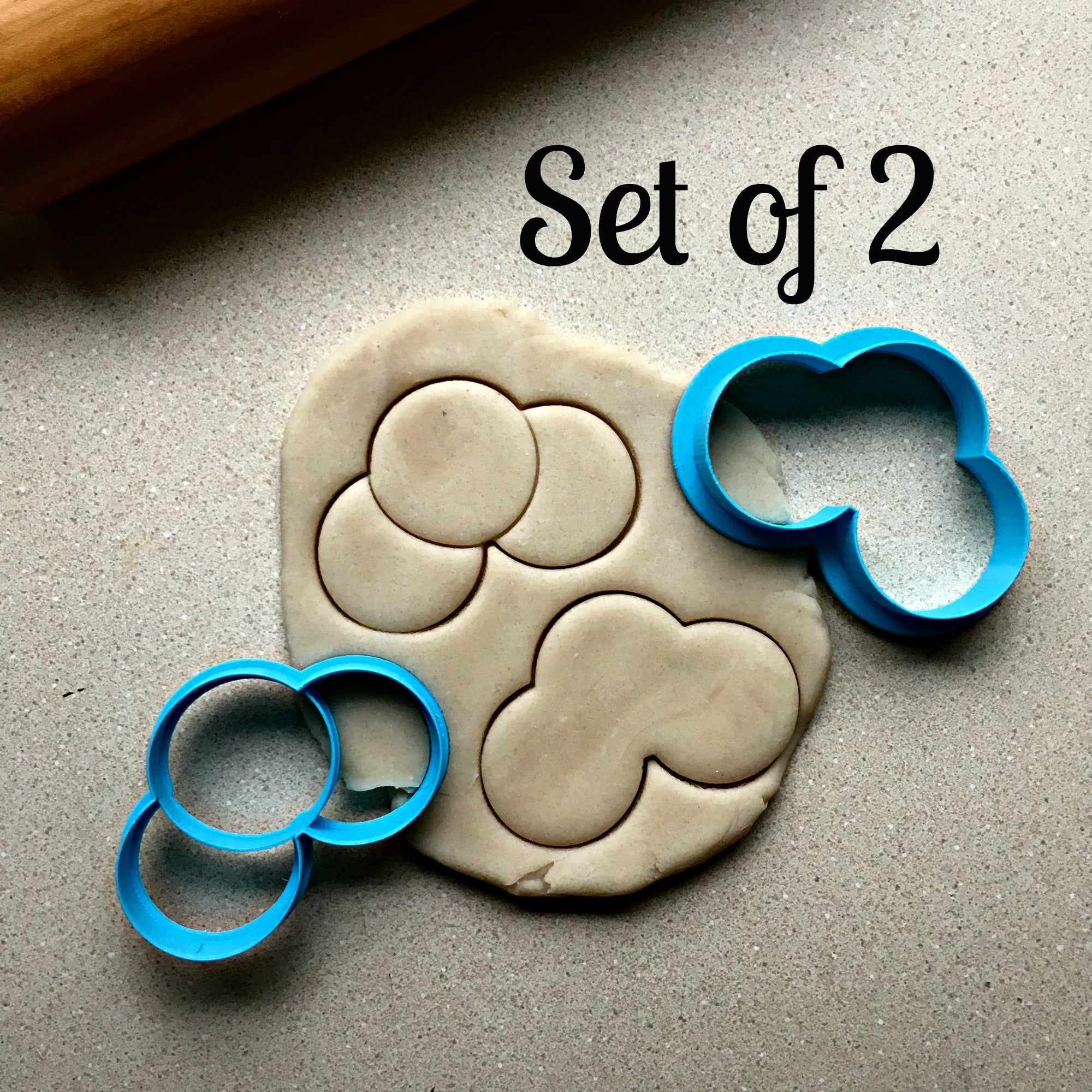 Set of 2 Chestnuts Cookie Cutters/Dishwasher Safe