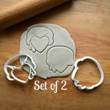 Set of 2 Mr. Turkey Cookie Cutters/Dishwasher Safe