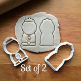 Set of 2 Gumball Machine Cookie Cutters/Dishwasher Safe