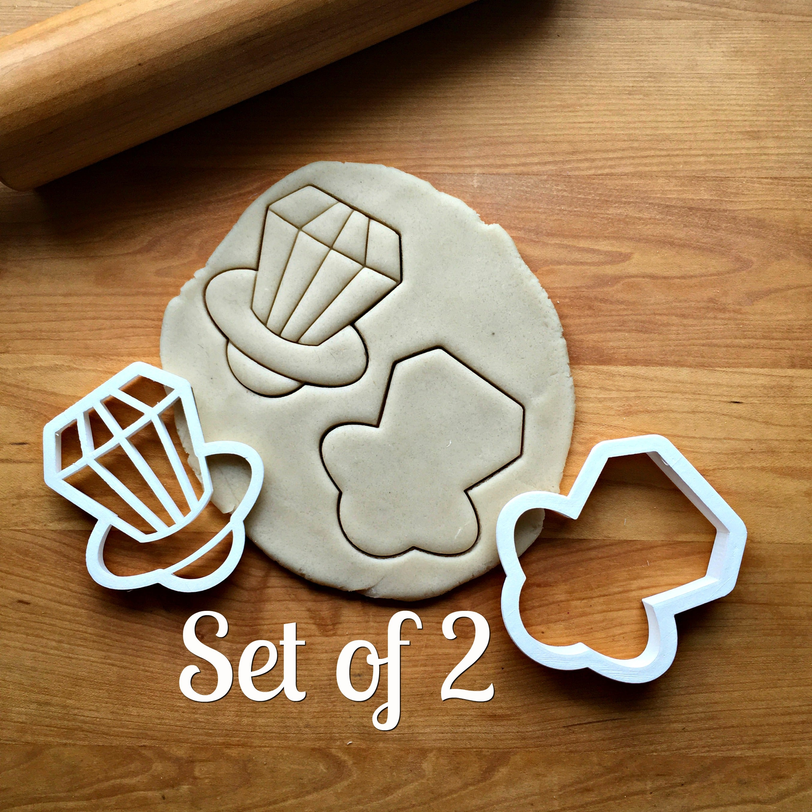 Set of 2 Candy Ring Cookie Cutters/Dishwasher Safe