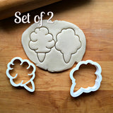 Set of 2 Cotton Candy Cookie Cutters/Dishwasher Safe