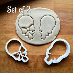 Set of 2 Lollipop/Sucker with Bow Cookie Cutters/Dishwasher Safe