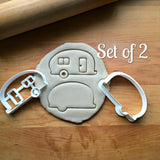 Set of 2 Camper Cookie Cutters/Dishwasher Safe
