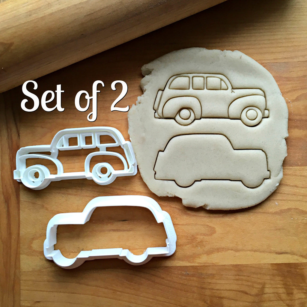 Set of 2 Station Wagon Cookie Cutters/Dishwasher Safe
