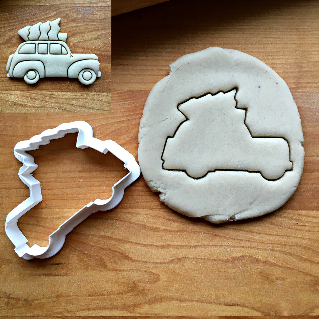 Tree Topped Station Wagon Cookie Cutter/Dishwasher Safe