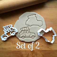 Set of 2 Tree Topped Station Wagon Cookie Cutters/Dishwasher Safe