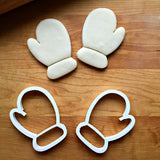 Set of 2 Mitten Cookie Cutters/Dishwasher Safe