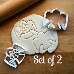 Set of 2 Christmas Angel Cookie Cutters/Dishwasher Safe