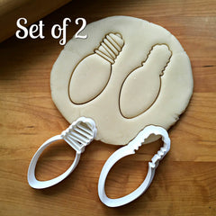 Set of 2 Christmas Light Bulb Cookie Cutters/Dishwasher Safe