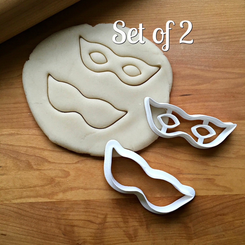 Set of 2 Masquerade Mask Cookie Cutters/Dishwasher Safe